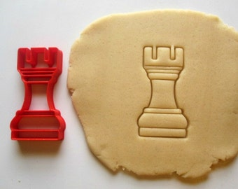 Rook Chess Piece Cookie Cutter/Multi-Sizes