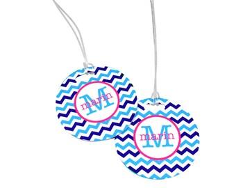 Bag Tag Monogram Luggage Tag Personalized Luggage Tag with Name or Monogram Custom Bag Tag
