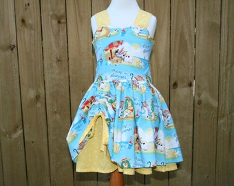 Boutique Style Olaf Summer Inspired Peekaboo Dress