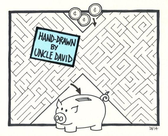 Piggy bank maze for Maze coin bank