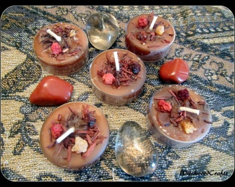 LUGHNASADH FIELDS - Scented Tealight Candles - Lammas Harvest - Cranberry Juniper Woods - Pagan Wicca - Wiccan Witch - Witchcraft Altar