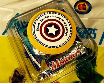 Super Heroes Thank you Tags - 12 Set