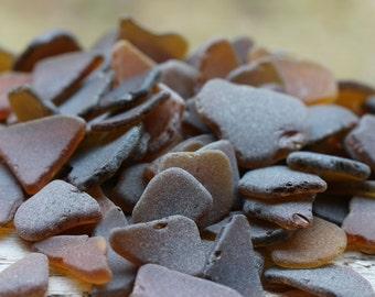 Bulk Sea Glass For Sale Brown Sea Glass Brown Beach Glass SMALL