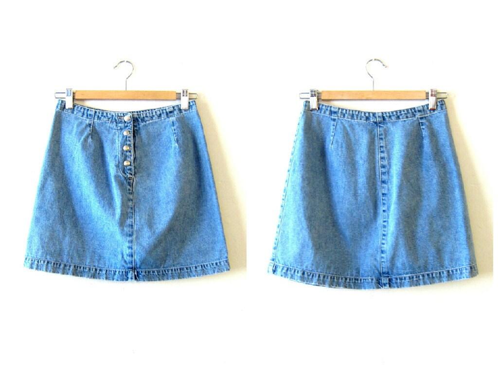 90s denim mini skirt vintage jean skirt gap denim mini