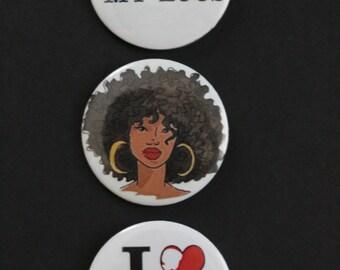 Natural Hair Empowerment Button Pack (5)