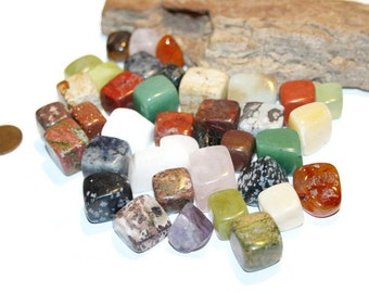 Healing crystals, Mixed Gemstone Lot, Undrilled, Polished Gemstones, Assorted Gemstones, Healing Stone, Chakra Reiki Crystal Healing Wicca