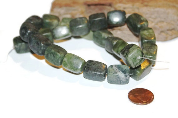 Serpentine Stone Beads, Gemstone Beads, Rectangle Beads in Serpentine ...