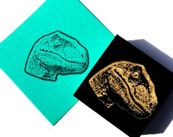 Velociraptor Stamp-  Dinosaur stamp Raptor rubber stamp