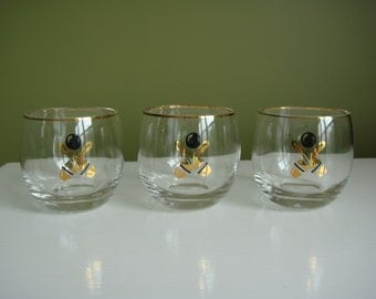 Vintage Glasses - Set of Three - Roly Poly - Bowling - Epsteam