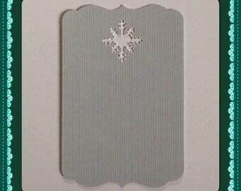 Heart snowflake tag card gift tag