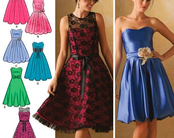 Simplicity Sewing Pattern 4070 Miss & Miss Petite Special Occasion Dresses