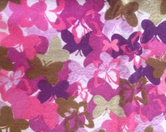 Fabric by the 1/2 Yard - Butterfly Cluster Flannel Fabric