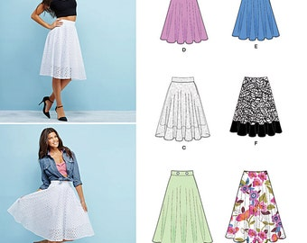 Simplicity Sewing Pattern 1200 Misses' 3/4 Circle Skirt with Length Variations