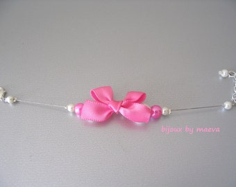 Child node jewelry bracelet and pink and ivory jewelry pearl bridesmaid / wedding