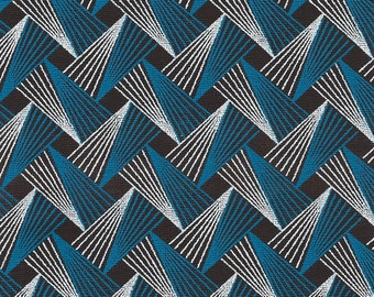 AFRICAN SHWESHWE FABRIC・Fat Quarter・Quilting Fabric・100% Cotton・Wax Fabric・Blue Fabric・White Fabric・Black Fabric・Tribal Fabric・Ethnic Fabric
