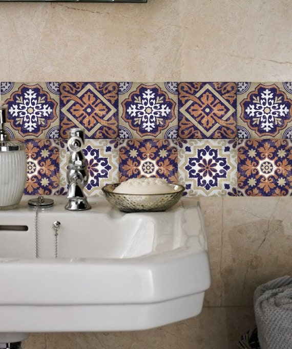 Stickers carrelage autocollants tuile stickers stickers de for Stickers carrelage mural salle de bain