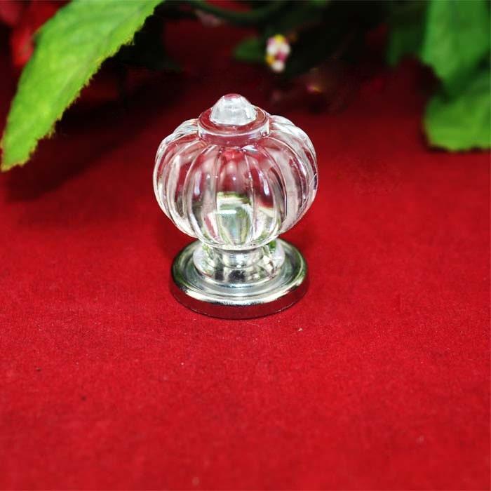 4 acrylic ball knobs plastics crown circle head single for Crystal bureau knobs