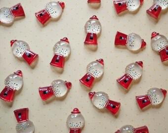 Red Gumball Machine Cabochon 5pcs - Kawaii Decoden