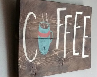 "REclaimed cedar wood sign.. ""Coffee"".. for the coffee lover and perfect decor for the kitchen"