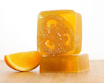 Men's Orange Patchouli Soap, Patchouli Soap, Orange Soap, Handmade Soap, Loofah Soap, Glycerin Soap, Bar Soap