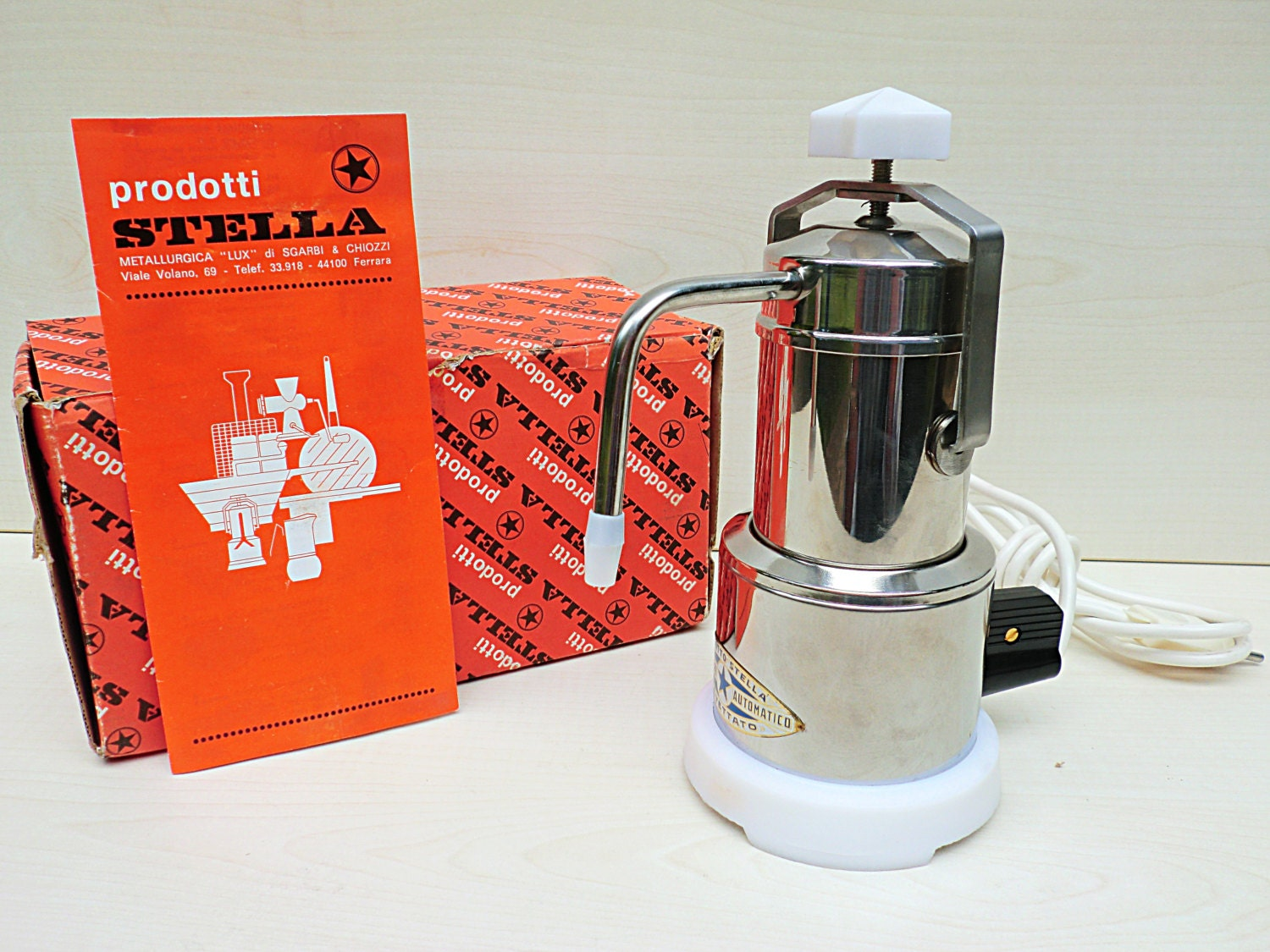 How Do You Say Coffee Maker In Italian : Vintage Italian Coffee maker STELLA by Sgarbi & by IdeeRetro