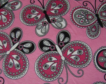 Paisley Butterflies Flannel Fabric by the yard