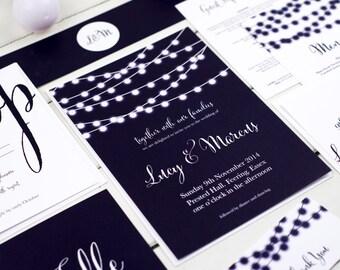Nightgarden Wedding Stationery Invitation Sample Pack by Russet & Gray