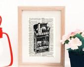 Limited Edition Linocut Printmaking Vintage Advertisement Print Rework - Clock Tower Cigarettes Brand