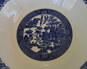 Willow Ware By Royal China Serving Bowl - Blue and White