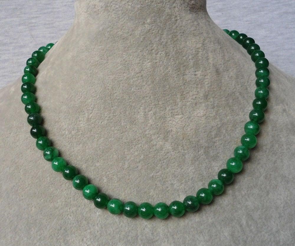 8mm jade green necklacejade green necklacewedding for Pictures of jade jewelry