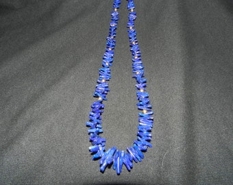 LAPIS and 14K GOLD NECKLACE