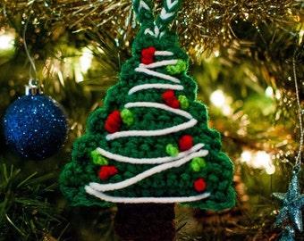 Crochet Christmas Tree Ornament, Christmas Tree Ornament, Christmas Tree, Christmas Ornament, Holiday Ornament, Handmade Christmas Ornament
