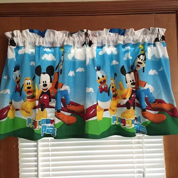Window curtain mickey mouse window curtains inspiring - Mickey mouse clubhouse bedroom curtains ...