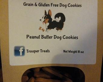 Grain & Gluten Free Peanut Butter Dog Cookies 8oz