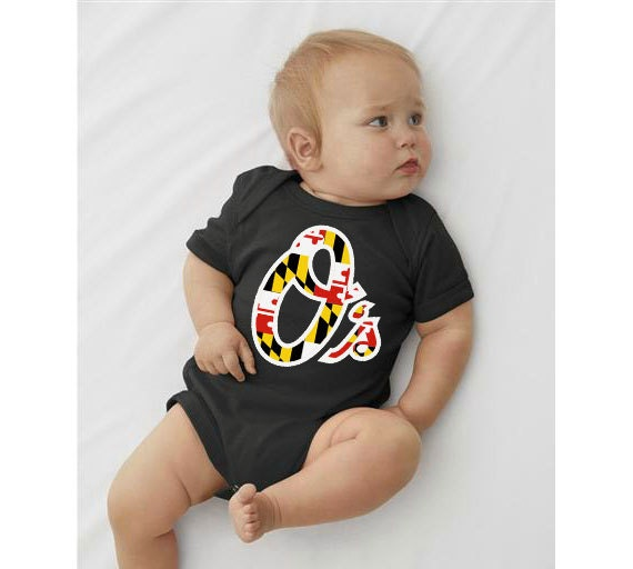 Os MD Flag Baby Onesie MD Flag Baby Onesie Orioles by ...