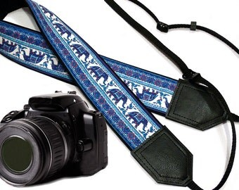 Elephant camera strap. Ethnic camera strap. DSLR /SLR Camera Strap. Photo accessories by InTePro