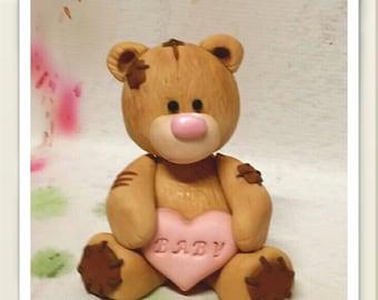 Fondant Baby Bear cake Topper