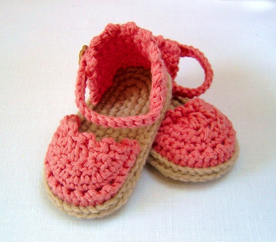 CROCHET PATTERN Baby Espadrille Sandals Easy Photo Tutorial