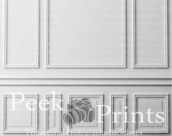 5ft.x5ft. Wainscoting - Chair Rail Wood Decorated Wall Vinyl Photography Backdrop