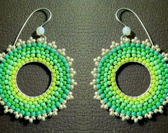 BoHo Beaded Earrings, Beautiful Handmade Beadwork