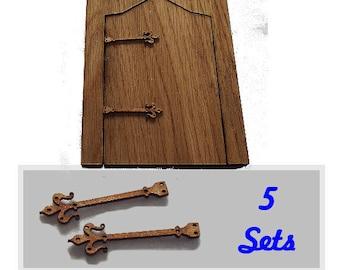 Pack of 5 sets fairy door hinges buy 3 packs get 1 pack FREE  Choose Length  #01