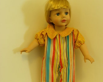 """18"""" Summer romper For American Girl or Madame Alexander doll clothes"""