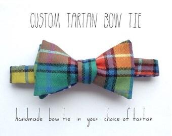 custom tartan men's bow tie | handmade tartan bow tie | plaid bow tie | tartan bowtie |