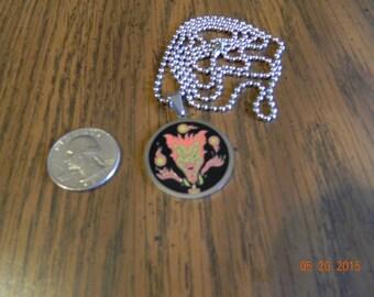 "New-Fresh ICP "" Jack Jeckel "" stainless steel pendant/30 inch ball chain."