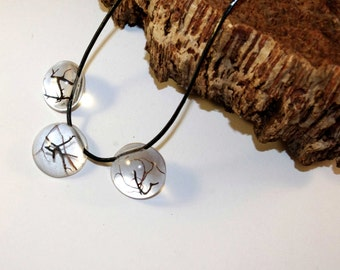 nature necklace with botanical form