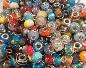 120 Handmade Lampwork Beads Mixed Colors & Patterns New