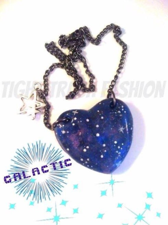 Galactic heart necklace Galaxy heart necklace with by ...