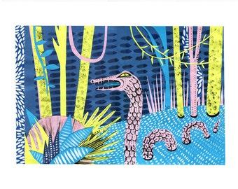 "SALE Print ""River Monster"""