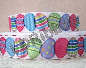 """7/8"""" Easter Egg Grosgrain Ribbon"""