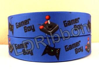 """1"""" Gamer Boy Grosgrain Ribbon"""